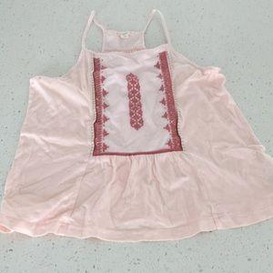 Crewcuts pink embroidered cami tank blush pink 12